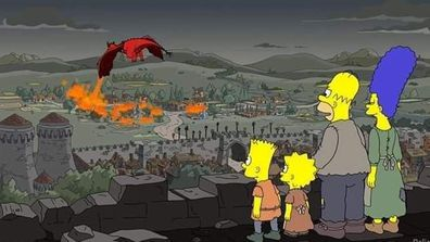 The Simpsons parody Game of Thrones
