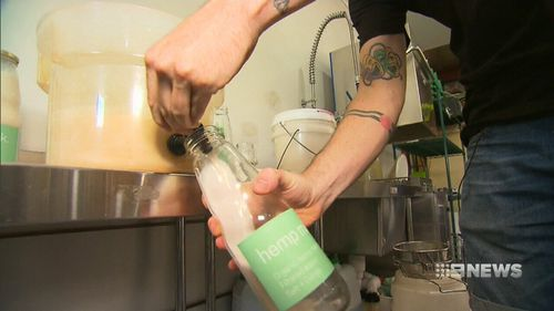 Experts believe a 250ml glass of hemp milk is half your daily calcium intake (9NEWS)