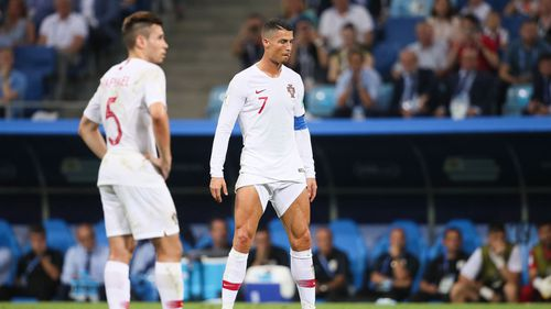 Ronaldo's fashion statement wasn't enough to help his team in the World Cup. Image: Supplied