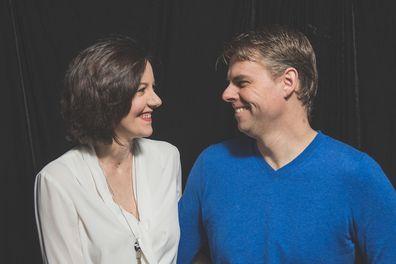 Natasha Janssens with her husband Simon.
