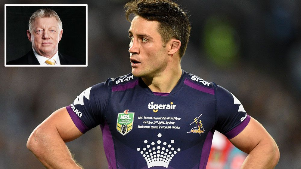 Phil Gould (inset) and Cooper Cronk.