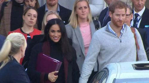The Duke and Duchess of Sussex arrived in Sydney and announced their news shortly after.