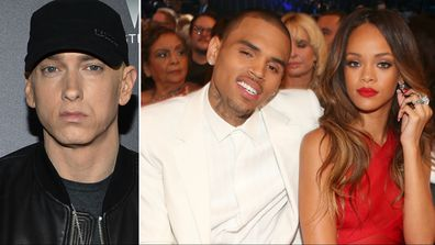 Eminem, Chris Brown, Rihanna