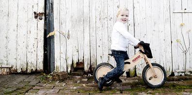 Knox on a bike.
