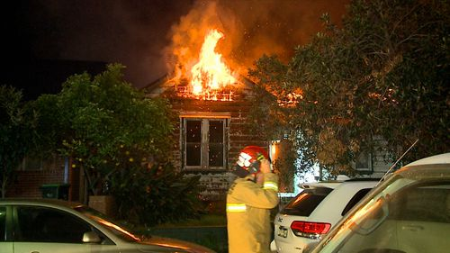 The home is believed to be abandoned. Picture: 9NEWS