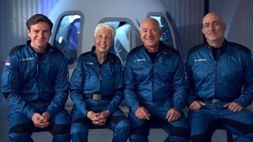 Billionaire Jeff Bezos will blast into space on Tuesday, in the first crewed flight of his rocket ship, New Shepard.