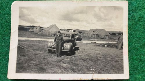 A photo of Douglas Downs during the war.