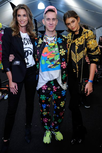 No one creates a spectacle quite like Jeremy Scott. At the Moschino Resort 2017 show, the creative director pulled out all the celebrity stops, packing the runway with favourites like Miranda Kerr, Hailey Baldwin and a ton of Victoria's Secret angels. The front row was equally buzzy, with Katy Perry sitting next to Caitlyn Jenner and Disney starlets Vanessa Hudgens and Bella Thorne. Meanwhile, the Crawford-Gerber clan seized the opportunity for some quality family time.