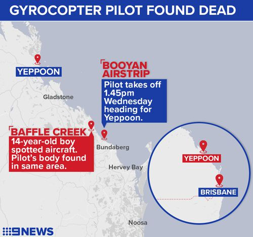 The 78-year-old man was bound for a property near Yeppoon, but never arrived. (9NEWS)