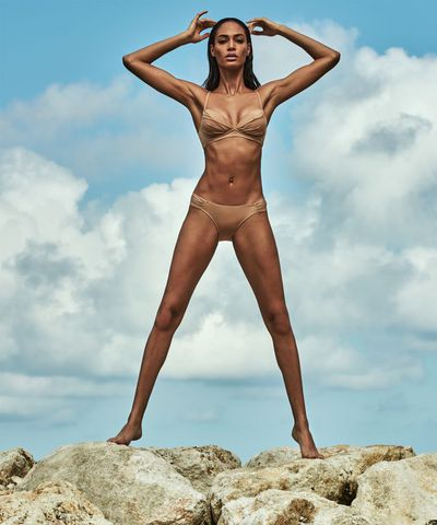 """From concept to creation, my goal was to create beautiful pieces, with a variety of sizes, all at affordable prices,"" tells Joan Smalls of her <a href=""https://www.smartandsexy.com/the-joan-smalls-collection.html"" target=""_blank"">swimwear range</a>."