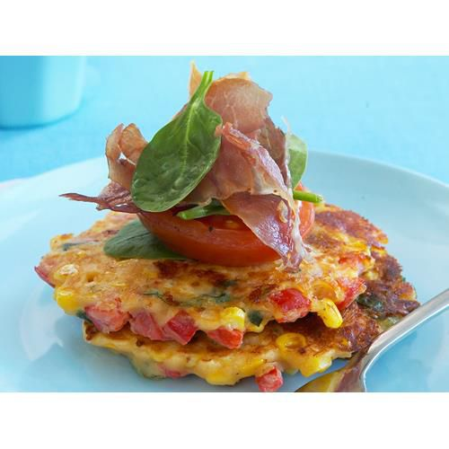 Corn and capsicum fritters