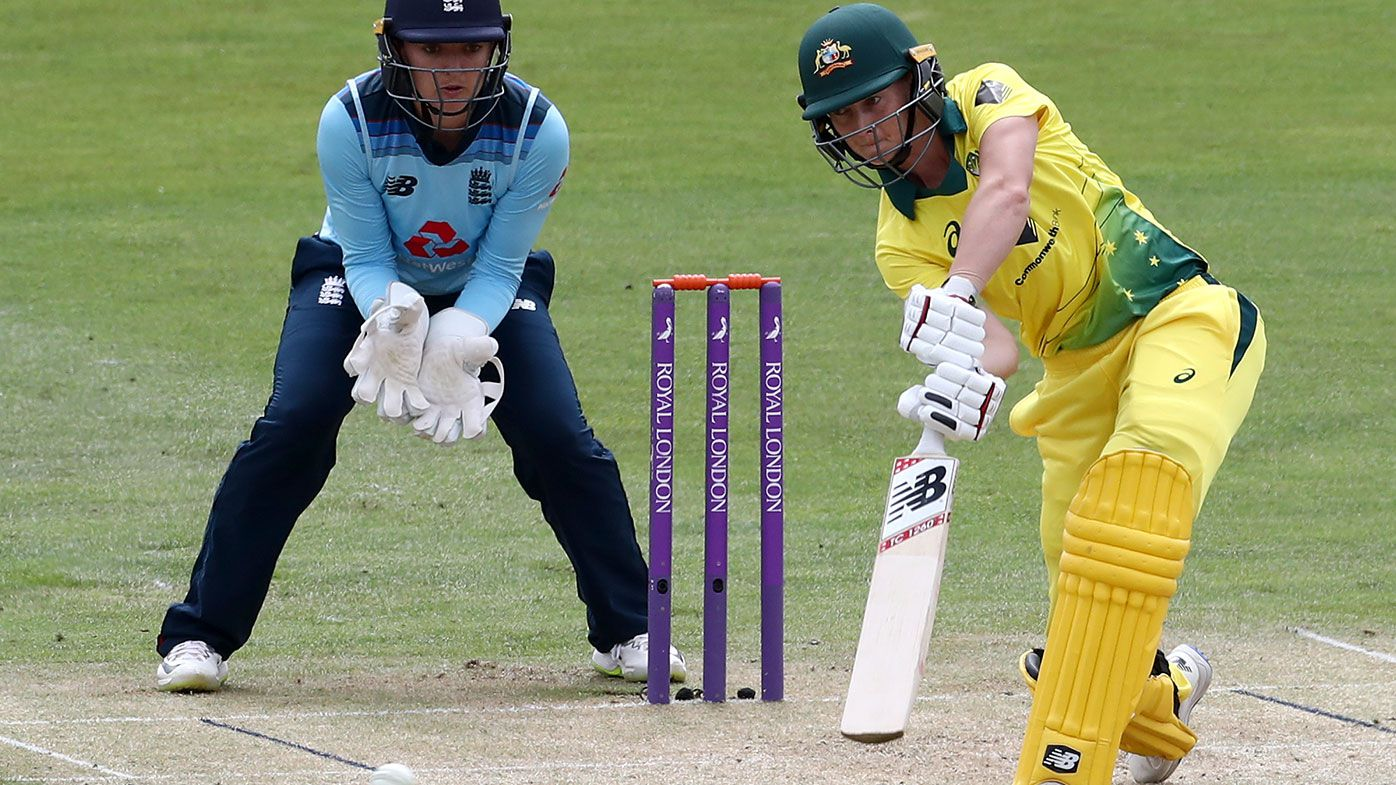 Australian captain Meg Lanning in action during the one-day series.