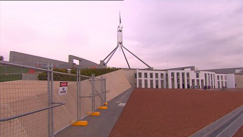 For more than a year Parliament House has been a building site as $126 million is poured into making it a hard target.