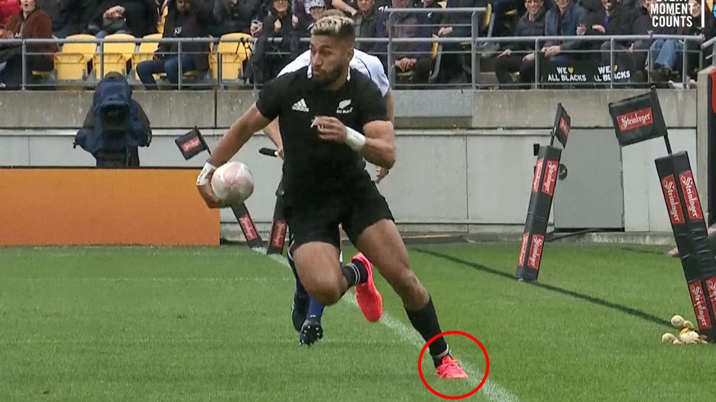 The All Blacks' first try has come under scrutiny.