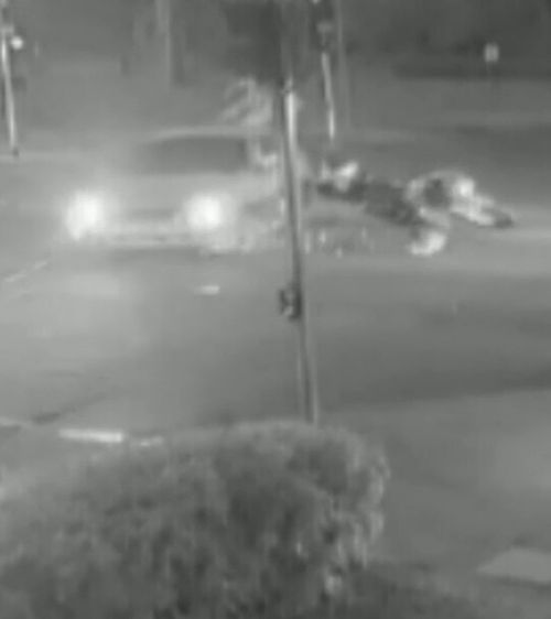 Shocking hit-run caught on camera in Adelaide after driver allegedly didn't give-way. Picture: 9NEWS
