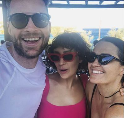 Zoë Foster Blake in a pair of Pared Eyewear sunglasses and Chosen by Tuchuzy tank top