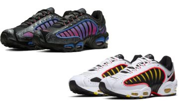 The shoes, reportedly Tailwind 4 White Black Crimson Yellow and Black Magic Flamingo are valued at over $120 each.