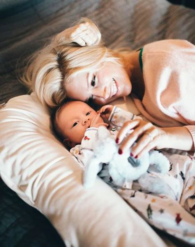 """""""Snuggle time,"""" Heidi captioned this perfect picture."""