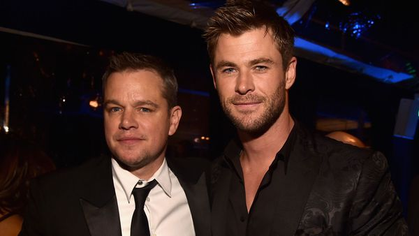 Matt Damon and Chris Hemsworth. Photo: Getty Images