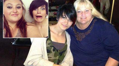Gal pals: Sophie Jastrow with Paris (inset), and Paris with her mum Debbie Rowe
