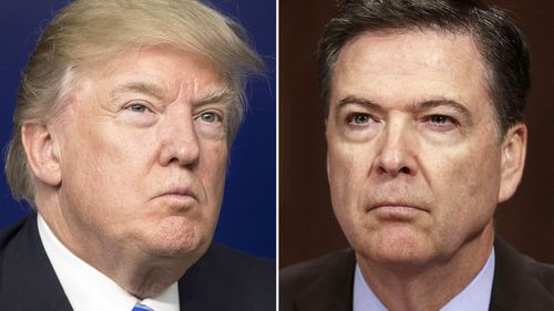 Donald Trump fired FBI director James Comey last month. Source: AFP