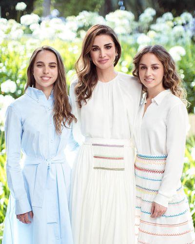 Princess Iman and Princess Salma of Jordan