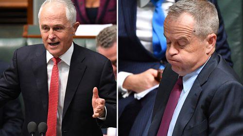 Labor leader Bill Shorten still trails Malcolm Turnbull as preferred PM despite his party's lead on a two-party preferred basis according to polls.