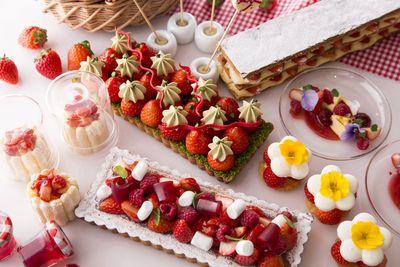 Marble Lounge Strawberry dessert buffet