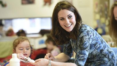 The Duchess has joined other school parents for a gathering at a local pub.