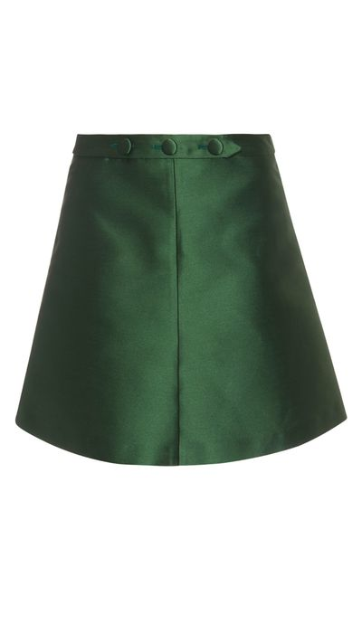 "<a href=""http://www.matchesfashion.com/au/products/REDValentino-A-line-satin-mini-skirt-1025181"" target=""_blank"">Skirt, $375, REDValentino at matchesfashion.com</a>"