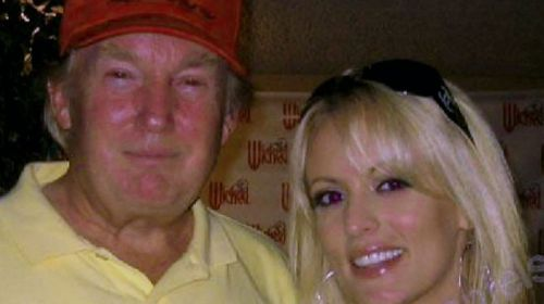 Stormy Daniels met Trump at a celebrity golf tournament at Lake Tahoe.