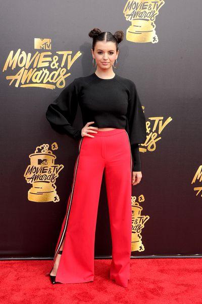 Singer Rebecca Black atthe 2017 MTV Movie & TV Awards in Los Angeles
