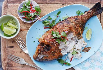 "<a href=""http://kitchen.nine.com.au/2016/05/05/10/06/anjum-anands-tandooristyle-barbecue-sea-bream"" target=""_top"">Anjum's tandoori-style barbecue sea bream<br /> </a>"