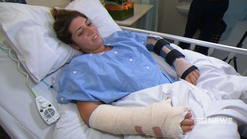 Stella Trevisani was stabbed five times during the unprovoked attack. (9NEWS)