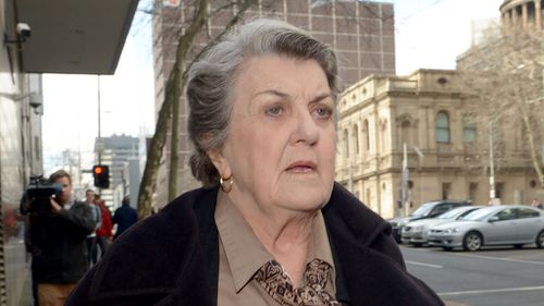 Maggie Kirkpatrick outside the Melbourne Magistrates' Court. (AAP)