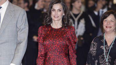 Queen Letizia attends opening of ARCO modern art international fair in Madrid.