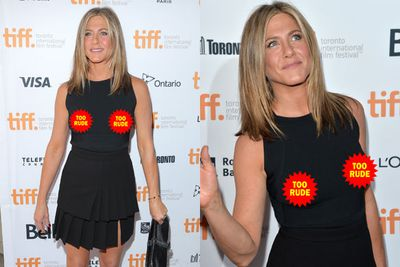 Only yesterday, TheFIX was cooing about how high-fash all our fave celebs have been at the Toronto Film Festival. Today, we're cooing about Jennifer Aniston's accidental nip-flash at the red carpet premiere of her upcoming indie drama<i>Cake</i>. <br/><br/>Forgetting her bra, 45-year-old Jen fell victim to the ultimate wardrobe malfunction... with fiance Justin Theroux obviously forgetting to do the last minute outfit check before she faced the press.<br/> <br/>Flick through for more awkward snaps... <br/>