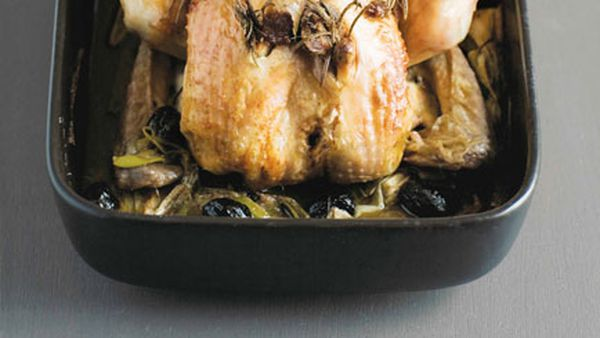 Stéphane Reynaud: Poulet rôti aux anchois et au romarin (roast chicken with anchovies and rosemary)