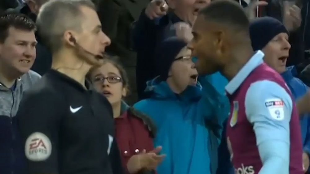 Villa star crosses the line with linesman