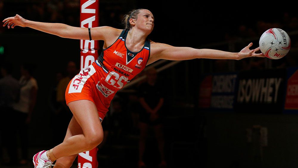 Jo Harten starred for the Netball Giants in their win over Collingwood. (Getty Images)