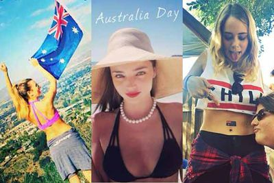 There were plenty of flags, bikinis, green, gold and glam this Australia Day as our local celebs got amongst it, Aussie style.