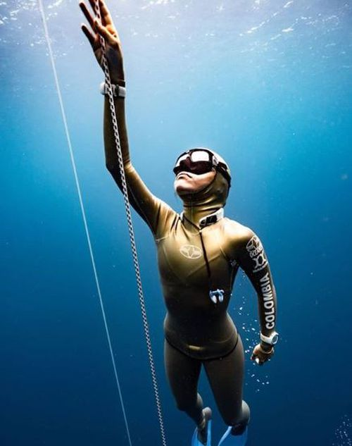 The diver has been to depths that would terrify most people. Picture: @daanverhoevenfreediver