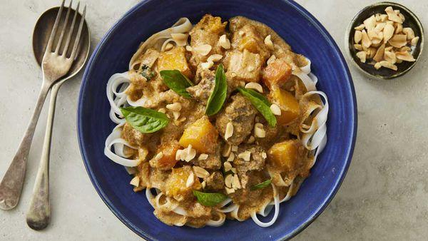 One-pan beef and pumpkin Massaman curry