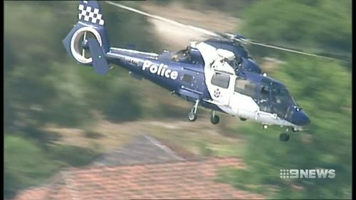The AirWing and Dog Squad were deployed as police searched for the suspects.