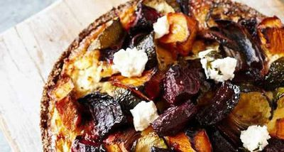 "Recipe: <a href=""http://kitchen.nine.com.au/2017/06/16/13/40/roast-vegetable-tart-with-quinoa-crust"" target=""_top"">Roast vegetable tart with quinoa crust</a>"