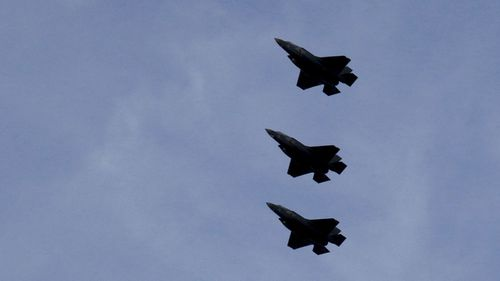 Each F35 fighter plane costs about US$80 million.