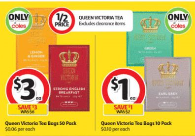Coles is selling a new brand of tea which looks simply delightful.
