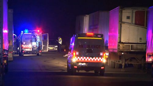 Early investigations suggest he was on a moped that collided with the rear of a semi-trailer. (Supplied)