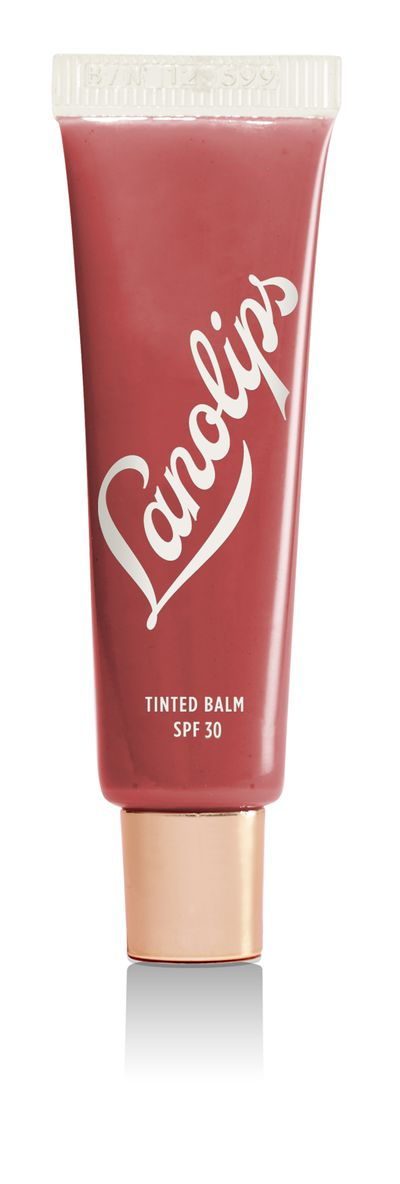 "<a href=""http://mecca.com.au/lanolips/tinted-balm-spf-30/V-023829.html"" target=""_blank"">LanolipsTinted Balm SPF 30 in Rhubarb, $13.95.</a>"