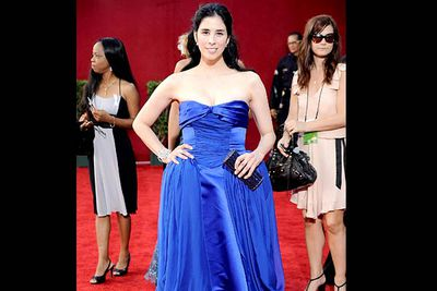 <b>Where she wore it:</b> The 61st Annual Primetime Emmy Awards, 2009.<br/><br/><b>The look:</b> What is it with comediennes in unflattering gowns? We assume (and hope) Sarah wore this one as a joke.